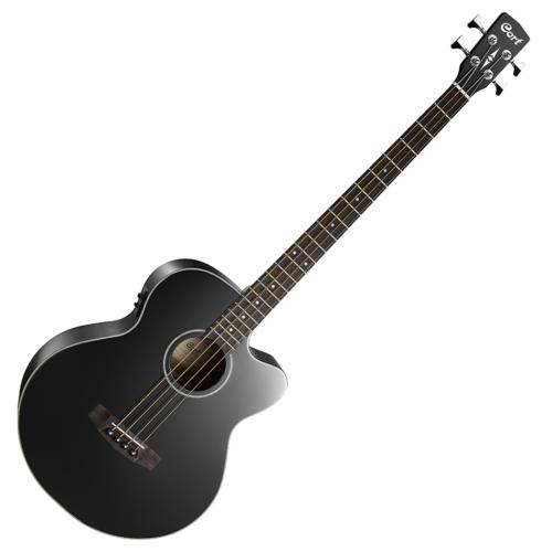 Cort - AB850F-BK with bag akusztikus basszusgitár tokkal - Fishman EQ fekete