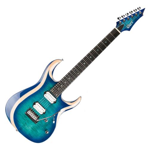 Cort - Co-X700-Duality-LBB elektromos gitár kék burst ajándék tokkal