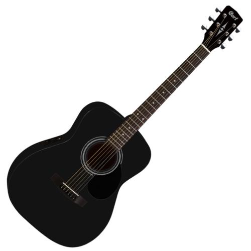 Cort - Co-AF510E-BKS akusztikus folkgitár EQ-val fekete szatén