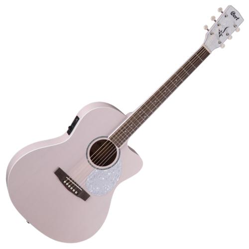 Cort - Co-JADE-Classic-PPOP with bag akusztikus Lady-gitár elektronikával  puhatokkal pasztell rózsaszín