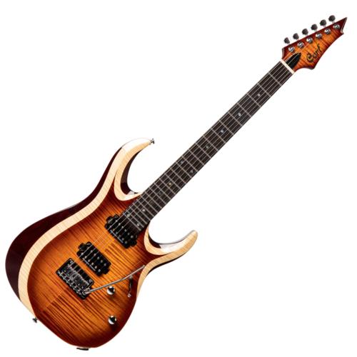 Cort - Co-X700-Duality-AVB with bag elektromos gitár, antik vintage burst tokkal