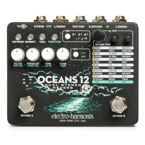 Electro-harmonix effektpedál - Oceans 12 reverb