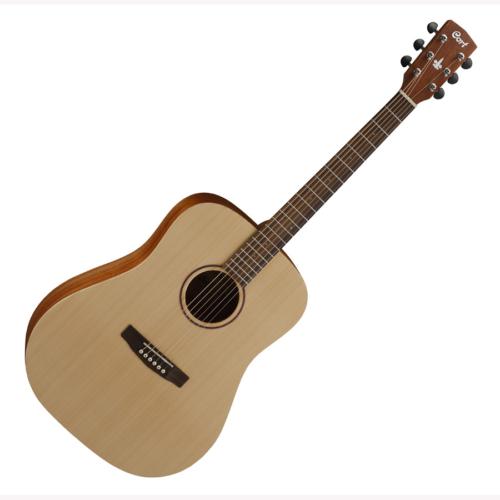 Cort - Co-EarthGrand-OP with bag akusztikus gitár lakkozatlan natúr hordtáskával