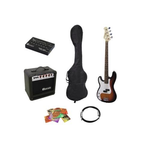 DIMAVERY - BGS-10 E-Bass-Set LH, balkezes sunburst