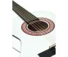 Dimavery - AC-303 1/2-es klasszikus gitár fehér színben, fedlap