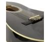 Dimavery - AC-303 1/2-es klasszikus gitár fekete színben, fedlap
