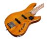 Cort - GB74JJ-AM elektromos basszusgitár borostyán ajándék félkemény tok