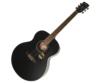 Cort akusztikus gitár elektronikával, matt fekete